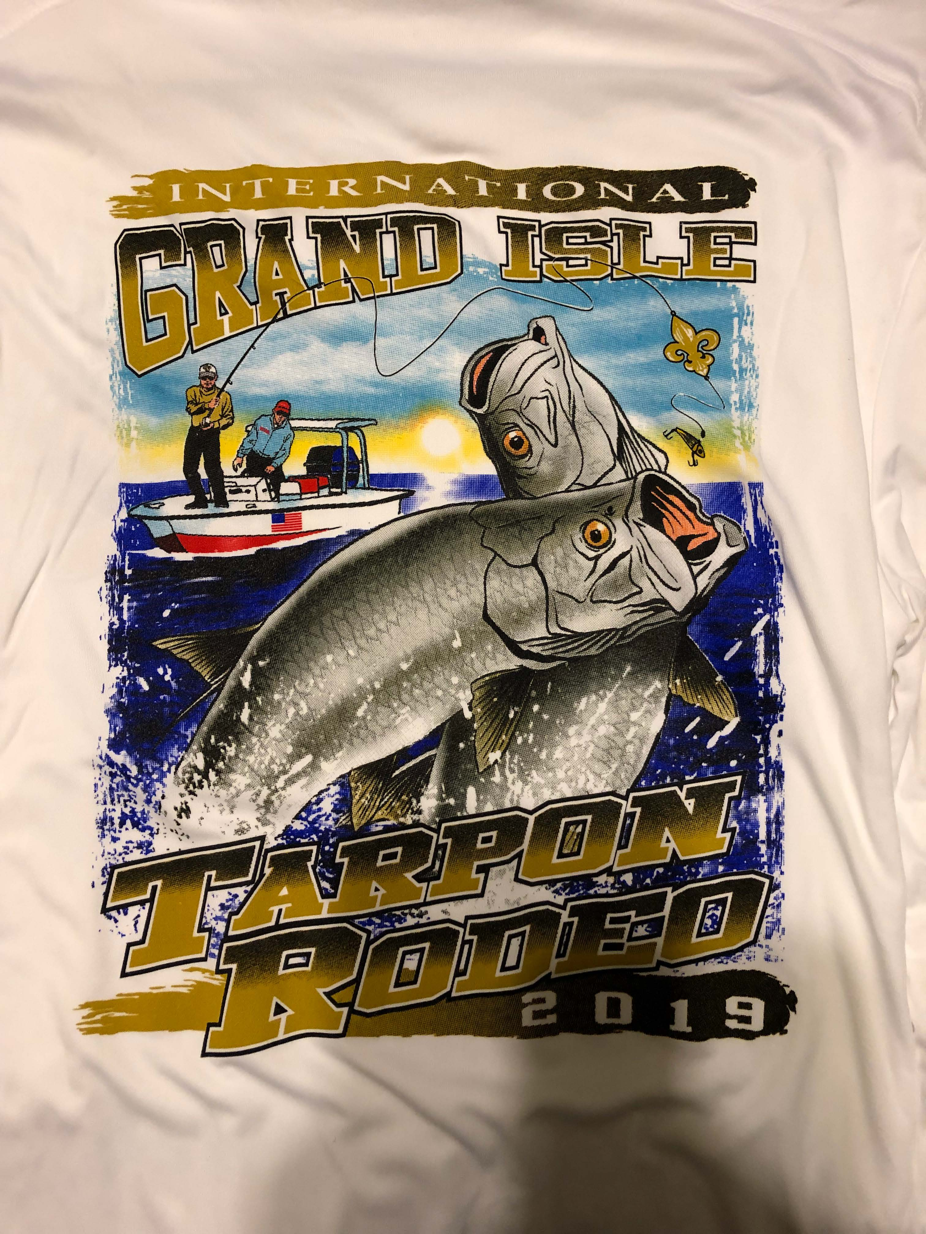 2019 Official Rodeo T Shirt Grand Isle Tarpon Rodeo